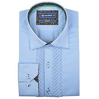 Oscar Banks Mens Pleated Front Evening Dress Shirt