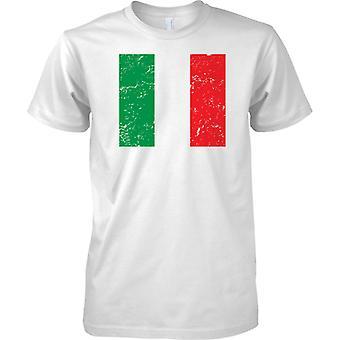 Italia agobiados Grunge efecto bandera diseño - para hombre T Shirt