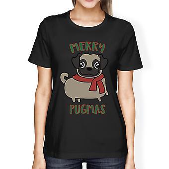 Wesołych Pugmas Mops Mama prezenty na Boże Narodzenie Odzież Cute grafiki Tshirt