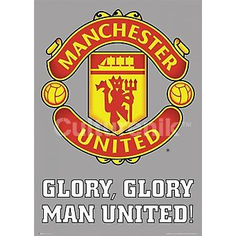 Manchester United Club Crest Poster Poster Print