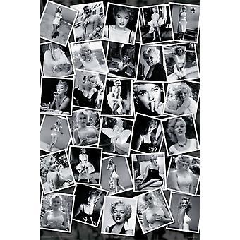 Marilyn Monroe Collage Poster Print von Sam Shaw (24 x 36)