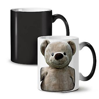 Cute Plush NEW Black Colour Changing Tea Coffee Ceramic Mug 11 oz | Wellcoda