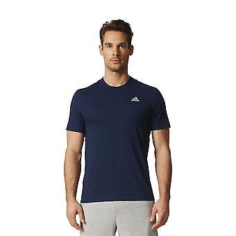 アディダス エッセンシャル ベース t シャツ S98743 普遍的なすべての年の男性 t シャツ