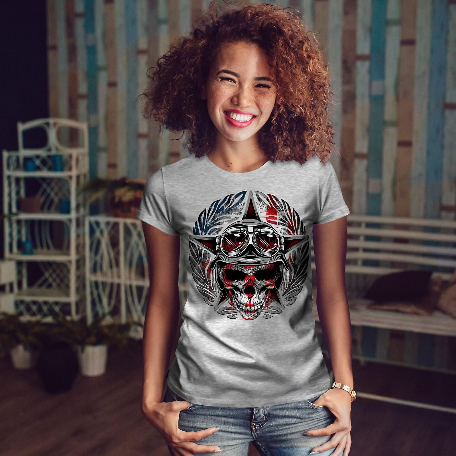 GreyT-shirt de femme pilote d'Amérique | Wellcoda