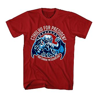 Warpo Cthulhu for President Men's Red T-shirt