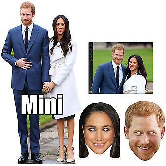 Royal Wedding 2018 Prince Harry & Meghan Markle Cutout / Standee & Mask Bronze Package