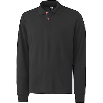 Helly Hansen Mens Fakse Flame Retardant Long Sleeve Polo Shirt Top