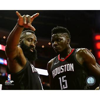 James Harden & Clint Capela 2017-18 Playoff Action Photo Print