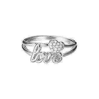 ESPRIT ladies ring brass jw52882 silver LOVE/heart ESRG02773A1