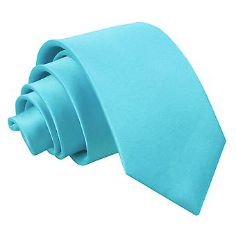 Robins Egg blau Plain Satin Slim Krawatte