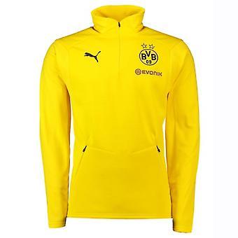 2018-2019 Borussia Dortmund Puma Training Fleece (Yellow)