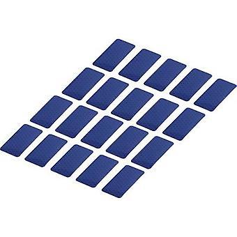 Componenti Conrad RTS25/50-BL 1282803 Strisce adesive RTS Blu (L x W) 50 mm x 25 mm 20 pc(i)