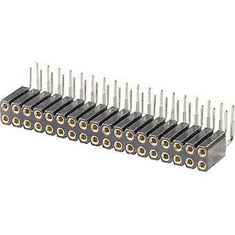 W/Teachers & P tuotteiden Socket Terminal nauhat, piki 2,54 nastojen määrä: 2 x 10-nimellisvirrasta (tiedot): 3 A