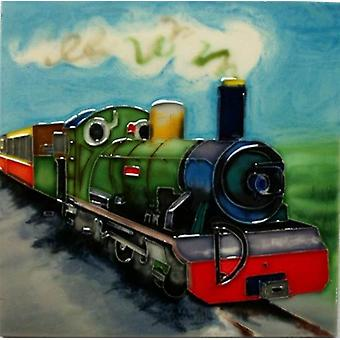 YH Arts keramiske vegg kunst, Steam Railway 8 x 8