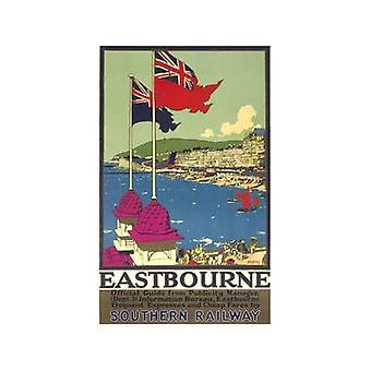 Eastbourne (to flag) (gamle jernbane E.kr.) Køleskabsmagnet