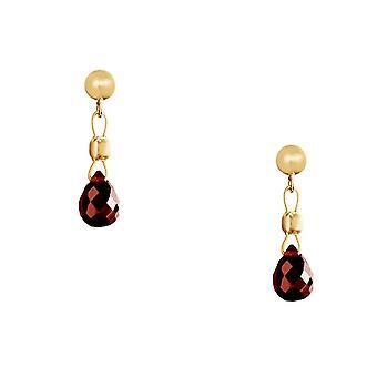 Gemshine - Women 'earrings - Gold plated - Garnet - Drop - Red - Dukelrot