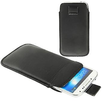 Slide de saco caso móvel para móvel Samsung Galaxy S4 i9500 / i9505 / i9506 / GT-i9515 / S3 / i9500 / i9300 / i9250 / i8750 preto