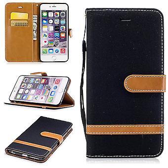 Case voor Apple iPhone 6s plus jeans dekken mobiele telefoon beschermhoes case zwart