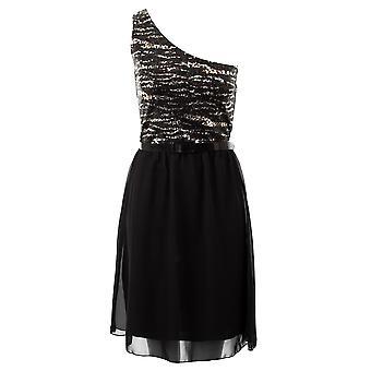 Дамы одно плечо вечерние блесток шифон опоясанные платья женские партии