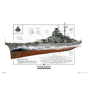 World of Warships Poster Schlachtschiff Bismarck