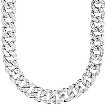 Premium bling Sterling 925 Silver Miami Cuban chain - 12mm