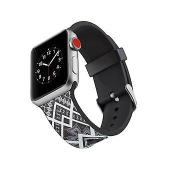 Curea ceas silicon pentru Apple Watch 4 44mm, 3/2/1 42mm-Quadrangle