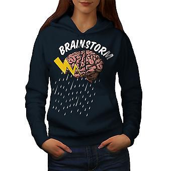 Brains Science Creative Women NavyHoodie | Wellcoda