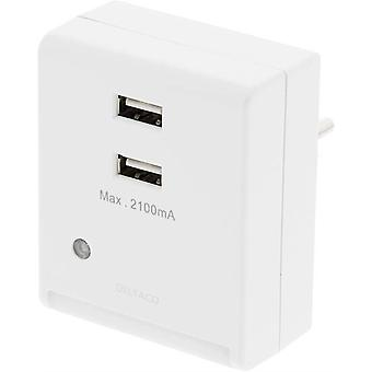 Wall charger and night light with light sensor 2, 1A