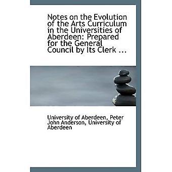 Notes sur l'évolution du programme d'Arts études dans les universités d'Aberdeen: préparé pour le gène