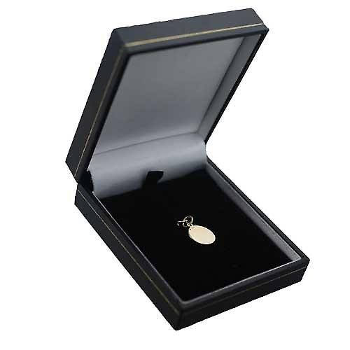 18 Karat Gold 13mm Runde Our Lady of Sorrows Anhänger