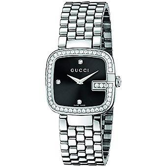 Reloj analógico de cuarzo de las señoras de Gucci con banda de acero inoxidable YA125412