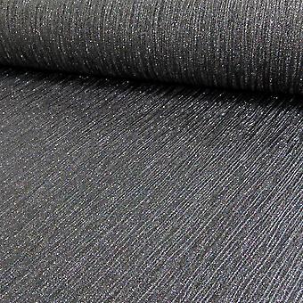 Debona Glitter Effect Shimmer Glittery Encrusted Black Shiny Vinyl Wallpaper