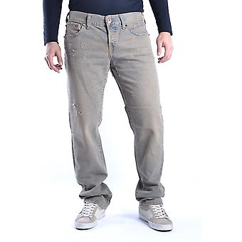 John Richmond Ezbc082013 Men's Grey Cotton Jeans