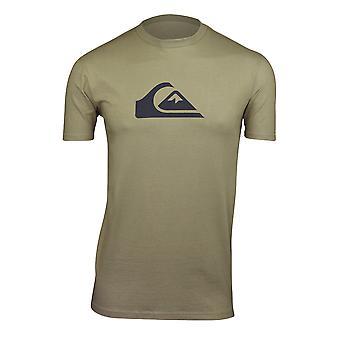 Quiksilver Mens Comp Logo T-Shirt-verdeckte grün
