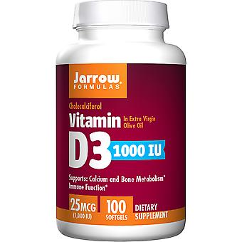 Jarrow formler Vitamin D3 1000 IU Softgels 100 Ct