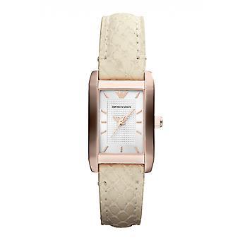Emporio Armani Ar1655 rosa marfim Senhoras relógio de ouro