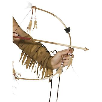Indian arrow with feathers and bow set Deluxe