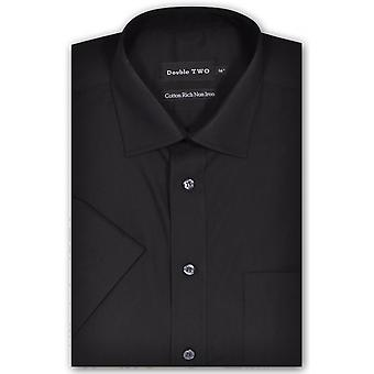 DOUBLE TWO Double Two Short Sleeve Plain Formal Shirt