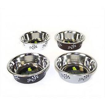 Ciotola del cane in acciaio inox - nero