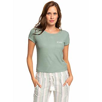 Roxy Young Womens Frozen Day Casual T-Shirt - Lily Pad Green