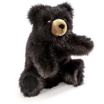 Hand Puppet - Folkmanis - Bear Black Baby New Animals Soft Doll Plush 2232