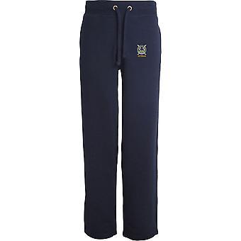 Banda Lowland do veterano escocês-licenciado British Army bordados abertos hem Sweatpants/jogging Bottoms
