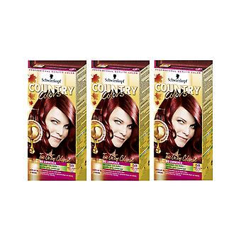 Schwarzkopf Country Colours 58 Grand Canyon Copper Semi-Perm Hair Dye x 3 Pack