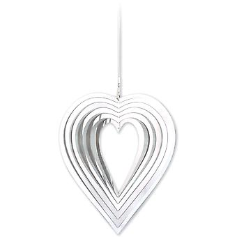 Spirit Of Air Stainless Steel Garden Spinner Heart