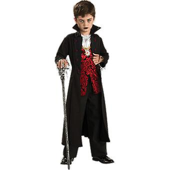 Boys Age 3 - 10 Years Gothic Count Vampire Costume Halloween Fancy Dress