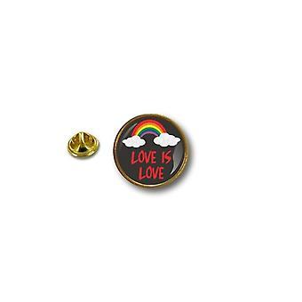 Pins Pin Badge Pin's Metal Broche Pince Papillon Drapeau Rainbow Is Love
