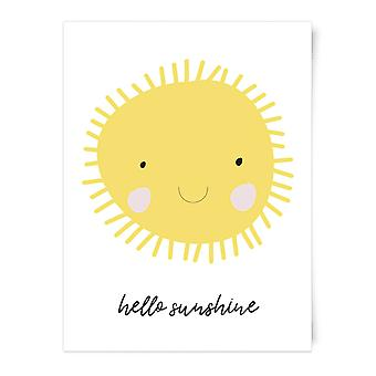 Hallo Sunshine Art Print