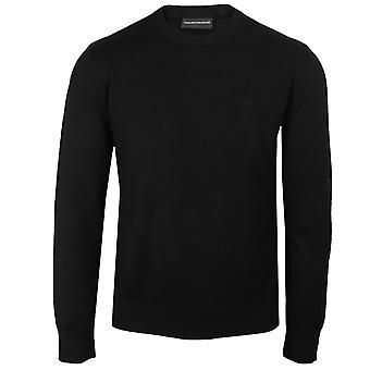 Emporio armani men's black pullover