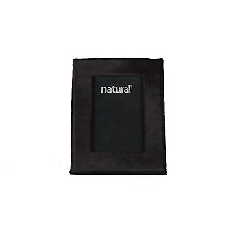 """7"""" x 9"""" Black  Cowhide   4"""" x 6"""" Picture Frame"""