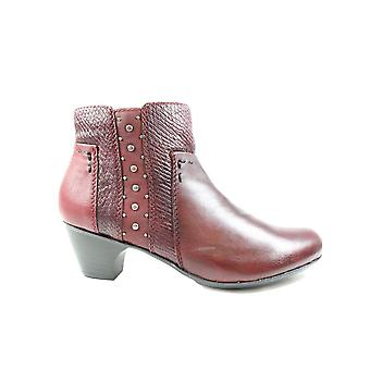 Rieker Sarah 70571-35 Burgundy Womens Heeled Ankle Boots